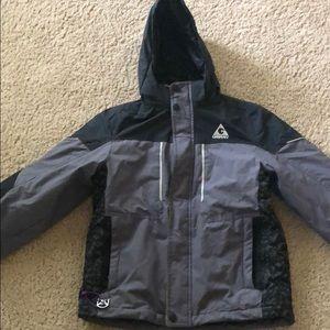 Warm hooded winter jacket